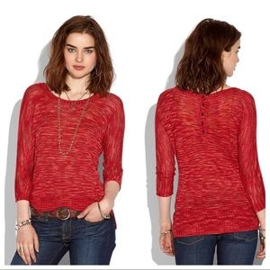 Lucky Brand Knit Button-Back Sweater